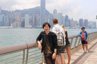 香港のビクトリアハーバーと私の写真・画像素材[1872532]