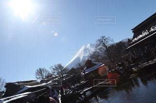 忍野八海と富士山の写真・画像素材[1876520]