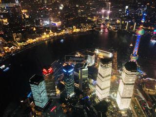 上海の夜景をパシャりの写真・画像素材[1869373]