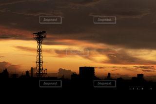 夏の夕焼けの写真・画像素材[2342862]