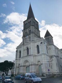 フランスの街中の教会の写真・画像素材[1003917]