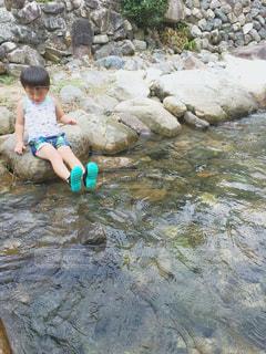 川遊びの写真・画像素材[2056651]