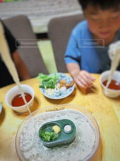 ミニ流し素麺の写真・画像素材[2181599]