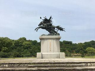 菊池武光公騎馬像の写真・画像素材[2151189]