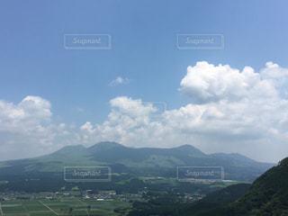 阿蘇市、車帰から阿蘇山周辺の山々を望む。の写真・画像素材[2271827]