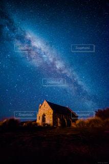 教会と星空の写真・画像素材[1878922]