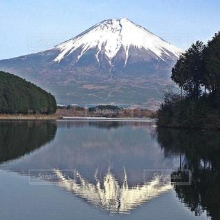 田貫湖にて逆さ富士です!の写真・画像素材[1878986]