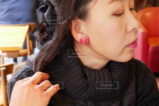 歯を磨く女性のクローズアップの写真・画像素材[2824052]