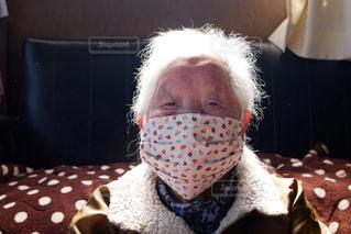 可愛い手作りマスクの写真・画像素材[3053767]