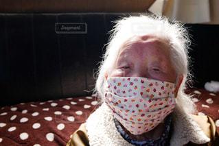 可愛い手作りマスクの写真・画像素材[3053768]