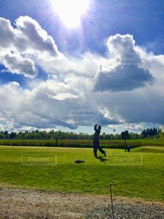 晴れた日のゴルフの写真・画像素材[1945556]