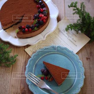 チョコレアチーズケーキの写真・画像素材[2016701]