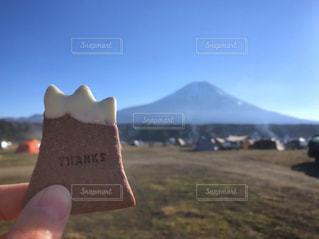 富士山と富士山クッキーの写真・画像素材[2071999]