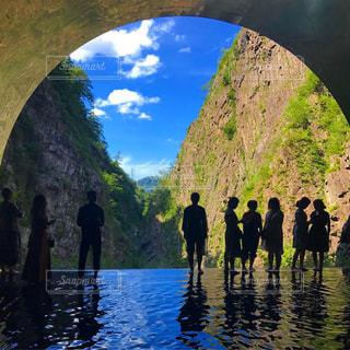 清津峡渓谷トンネルの写真・画像素材[2448450]