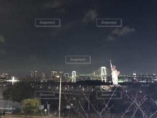 お台場の夜景の写真・画像素材[1919048]