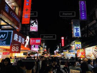 台湾の夜の街の写真・画像素材[1949257]
