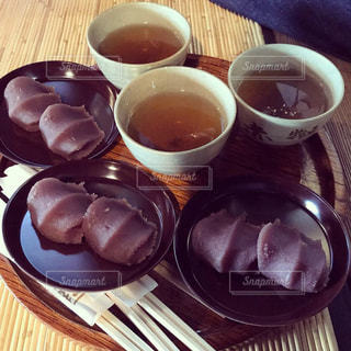 和菓子とお茶の写真・画像素材[1941529]