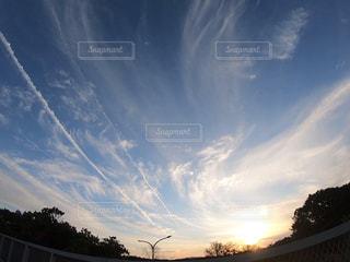 空の雲のクローズアップの写真・画像素材[2877912]