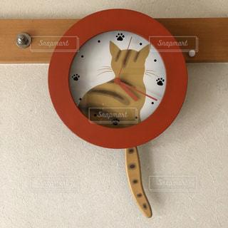 猫の時計の写真・画像素材[2096472]