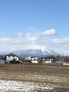冬の岩手山の写真・画像素材[1981206]