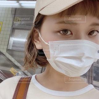 マスクの女性の写真・画像素材[3604103]