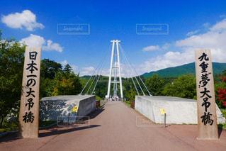 九重夢大吊橋の写真・画像素材[2010087]