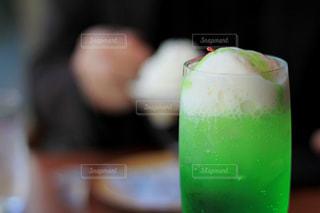 メロンクリームソーダの写真・画像素材[2106230]