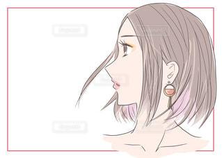 女性の横顔の写真・画像素材[2329044]