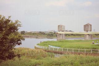 川辺の景色の写真・画像素材[2671553]