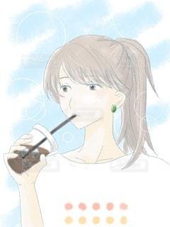 夏とアイスコーヒーの写真・画像素材[3471646]