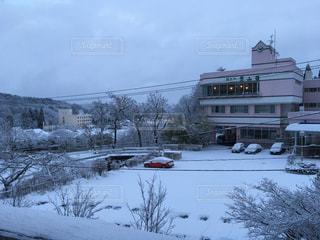 雪に覆われた鉄道の写真・画像素材[865081]