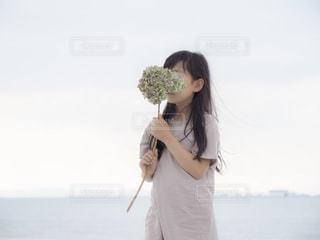 海と花の写真・画像素材[2212876]