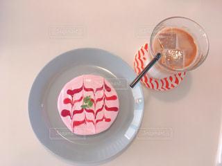 ベリークリームのパンケーキの写真・画像素材[2128100]
