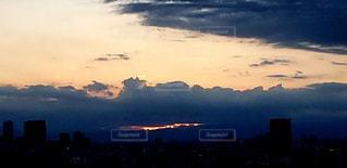 展望デッキからの夕空の写真・画像素材[1956566]