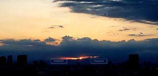 展望デッキからの夕空の写真・画像素材[1956567]