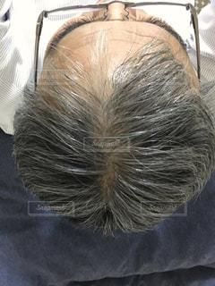 40代男性の頭の写真・画像素材[2008679]