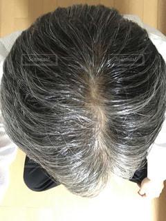 40代男性の頭の写真・画像素材[2008680]