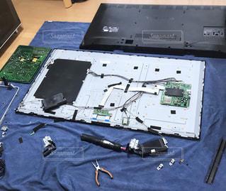 液晶テレビの修理の写真・画像素材[2031763]
