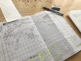 プリントでテスト勉強!の写真・画像素材[2289107]