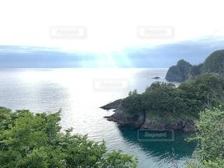 伊豆の海と山の写真・画像素材[2340646]
