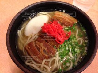 空港で食べた 沖縄そばの写真・画像素材[1947554]