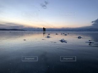 シベリアの夕焼けの写真・画像素材[1907838]