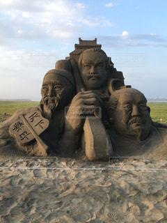 砂の彫刻の写真・画像素材[1935979]