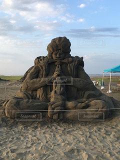 砂の彫刻の写真・画像素材[1935980]