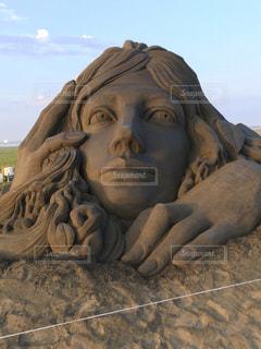 砂の彫刻の写真・画像素材[1935983]