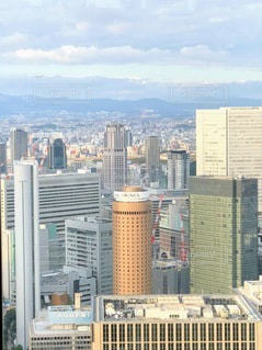都市の高い建物の写真・画像素材[3636015]