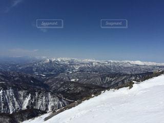 残雪の日光白根山の写真・画像素材[1898497]