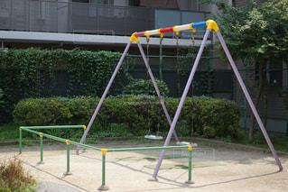 公園のブランコの写真・画像素材[740014]