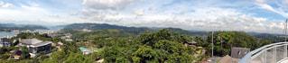 背景の山と木の写真・画像素材[976784]