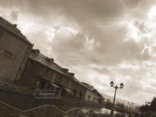 セピアな小樽運河の写真・画像素材[1967741]